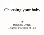 Choosing your baby