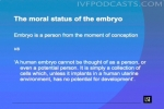 The moral status of the embryo
