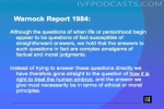 Warnock Report 1984