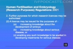 Human Fertilisation and Embryology (Research Purposes) Regulations 2001